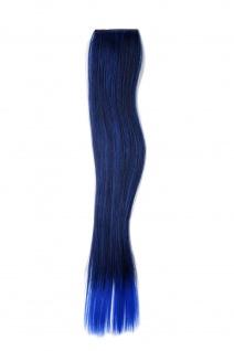2 CLIP Extension Strähne Haarverlängerung Blau glatt 45cm YZF-P2S18-1BTTTF2517