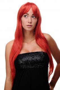 Perücke Rot Feuerrot lang Scheitel sexy Wig ca. 70cm 3111-137