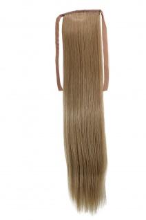 Haarteil ZOPF Asch-Blond glatt 45cm YZF-TS18-16 Band Klammer Haarverlängerung
