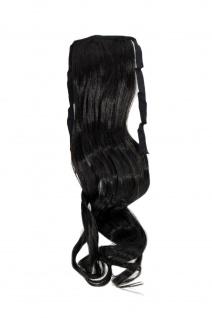 Haarteil ZOPF Dunkelbraun wellig 45cm YZF-TC18-3 Band Klammer Haarverlängerung