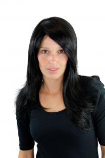 Perücke, Wig, Schwarz, black, glatt, Seitenscheitel, Länge: ca. 55 cm, GFW645-1