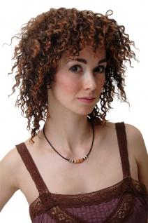 Perücke Damenperücke Locken Krepplocken Afro Karibik Volumen braun rotbraun 4127