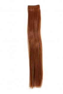 2 Clips Extension Strähne glatt Rot-Braun YZF-P2S18-30 45cm Haarverlängerung