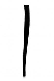 Strähne/ Extension/ Haarverlängerung 1 Clip-In/ Kamm 52cm x 3cm Schwarz FKJ-1-1