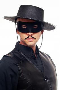 Maske Halbmaske Augenbinde Herren Schwarz Zorro Bandit Vigilante 65-86