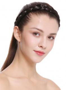 Haarband Haarreif geflochten Tracht traditionell dunkelbraun braid CXT-007-003