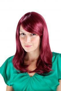 Damenperücke rot-lila glatt Seitenscheitel Spitzen Haarersatz lang 50cm 3120-39
