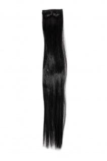 2 Clips Extension Strähne glatt Schwarz YZF-P2S18-2 45cm Haarverlängerung