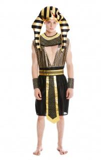 Kostüm Herren Männer Karneval Halloween Ramses Ägypter Pharao S/M - Vorschau 3
