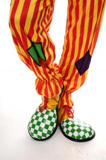 Karneval Zirkus Kinderparty Übergroß Clownschuhe Clown grün weiß kariert VQ-026E - Vorschau 3