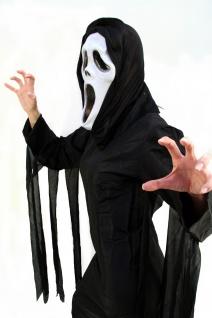 Horror Kostüm Scream/Der Schrei Halloween Umhang schwarz Kapuze Damen/Herren K13 - Vorschau 3