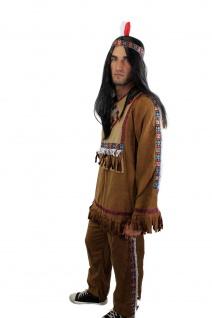 Kostüm Herren Herrenkostüm Indianer Häuptling Apache Sioux Cowboy L030 - Vorschau 2