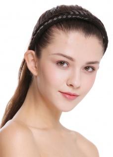 Haarband Haarreif geflochten Tracht traditionell dunkelbraun braid CXT-001-003