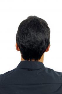 Perücke Herrenperücke Männer kurz schwarz schwarzbraun glatt WL-0204-2 Wig Men - Vorschau 3