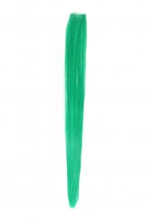 1 Clip Extension Strähne Haarverlängerung glatt Blaugrün 45cm YZF-P1S18-T2608