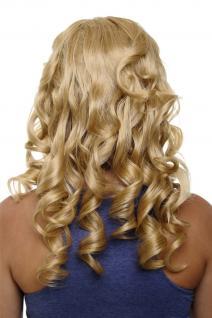 Clip-in Haarteil mit 7 Klammern 3/4 Perücke Halbperücke Blond 50 cm H9503-611B
