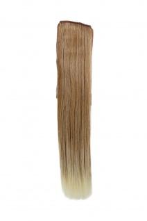 Haarteil ZOPF Blond-Mix glatt 45cm YZF-TS18-27T613 Band Klammer Haarverlängerung
