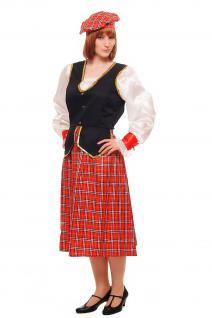 Kostüm Damen Damenkostüm Schotte Schottin Scotswoman Schottland Scot K46 - Vorschau 5