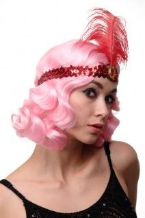 Haarband Haarreif Stirnreif Pailletten rot Charleston 20er Cabaret VQ-006-RED