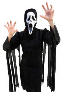 Horror Kostüm Scream/Der Schrei Halloween Umhang schwarz Kapuze Damen/Herren K13
