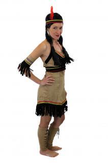 Tolles Set: Kostüm Damen Damenkostüm Indianerin Squaw Indianerfrau L019 XS, S, M, L - Vorschau 5