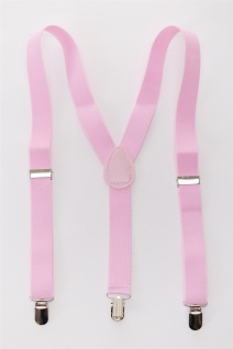 DRESS ME UP - Halloween Karneval Hosenträger Suspenders Pink W-068P-pink - Vorschau 3