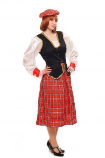 Kostüm Damen Damenkostüm Schotte Schottin Scotswoman Schottland Scot K46 - Vorschau 1