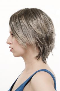 Sexy modische Damenperücke Perücke wild burschikos Strähnen schwarz blond 1BT24 - Vorschau 4