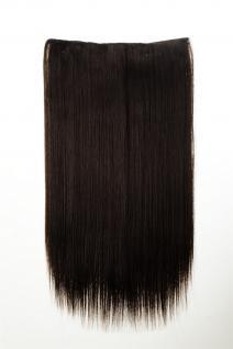 Haarteil Haarverlängerung breit 5 Clips dicht glatt Mittelbraun 60 cm L30172-6