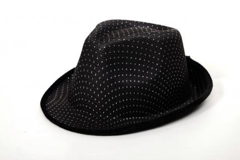 Karneval Damen Herren Hut Fedora Gangster Chicago Pimp schwarz VJ-042-black - Vorschau 4