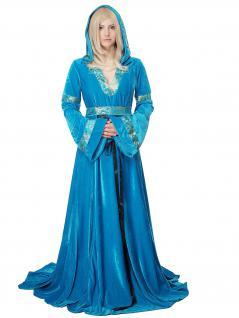 Kostüm Damen aufwändig Kleid Elfe Waldelfe Märchen Mittelalter Burgfräulein L067