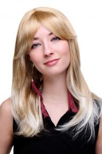 Damenperücke Blond-Mix helle Spitzen glatte Haare lang Perücke 50 cm 3119-27T613