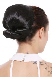 Haarteil Dutt Haarknoten groß Omadutt Oma Tracht Retro Vintage Schwarz