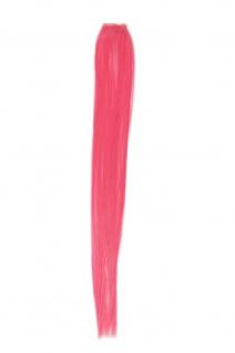 1 Clip Extension Strähne Haarverlängerung glatt Dunkelrosa 45cm YZF-P1S18-T1920