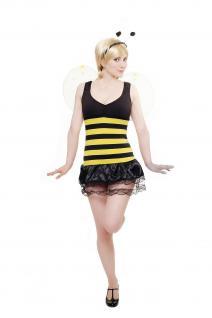 Kostüm Flotte Biene Damen Damenkostüm Komplett-Set Bienchen Bienenkostüm L041