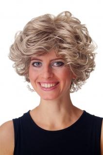 Perücke Damen Herren kurz wild voluminös gelockt Blond Braun Mix GFW963-18T22