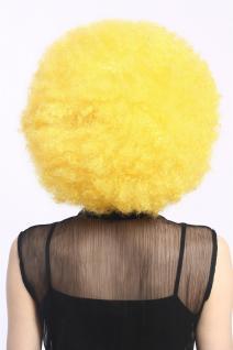 Perücke Karneval Fasching Großer Afro Afroperücke XXL Gelb Neongelb XR-002-PC2B - Vorschau 3