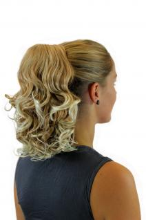 Haarteil/Zopf gewellt 35 cm 1 Klammer + Gummizug Blond-Mix JL-3028-27T613