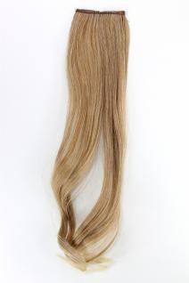 2 CLIP Extension Strähne wellig Blond-Mix YZF-P2C18-27T88 45cm Haarverlängerung