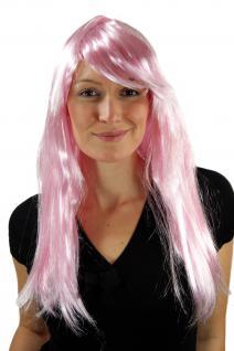 Neue Perücke Fasching Pink Rosa Fee Elfe Cosplay wig parrucca peluca perruque