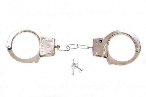 Karneval Scherz & Spaßartikel Handschellen Cuffs Polizist Bulle Gefängnis RH-001