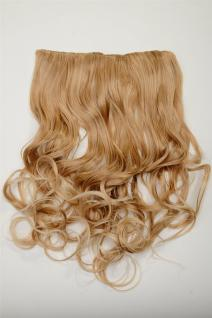 Clip-In Extension Haarverlängerung breit 5 Clip lockig Blond hellblonde Spitzen