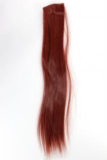 2 Clips Extension Strähne glatt Rot YZF-P2S18-35 45cm Haarverlängerung