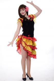DRESS ME UP - Kostüm Damen Tango Tangotänzerin Carmen Kleid Bolero Gr. S/M L214 - Vorschau 5
