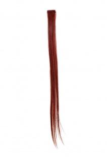 1 CLIP Extension Strähne glatt Rot Dunkelrot YZF-P1S25-35 65cm Haarverlängerung