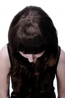 Damenperücke Wig lang wellig Braunmix brünett modisch Scheitel 60 cm 9011A-2T30 - Vorschau 5