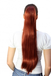 Haarteil/Zopf rotes sehr langes glatt Butterfly-Klammer ca. 70 cm T113-350