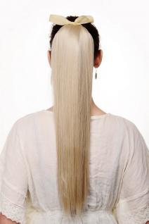 Haarteil Zopf Blond Aschblond glatt Bändchen & Klammer ca. 60cm C9429-22