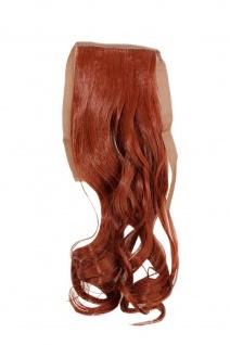Haarteil ZOPF Tizian-Rot wellig 45cm YZF-TC18-350 Band Klammer Haarverlängerung