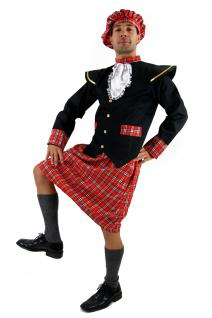 Kostüm SCHOTTE Kilt Braveheart HIGHLANDER Herren Rock Scots Rob Roy Plaid K37